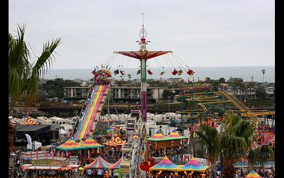 An overview of the midway rides