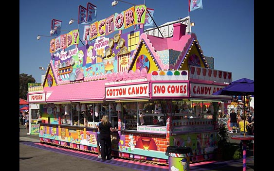 A Candy Factory selling cotton candy and sno cones