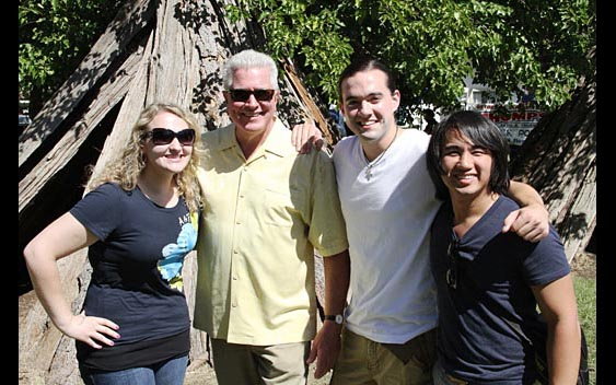Huell Howser and fans. Amador County Fair, Plymouth
