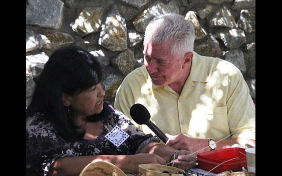 Huell Howser learns more about traditional Native American crafts. Amador County Fair, Plymouth