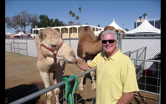 Huell Howser makes a new friend. Riverside County Fair & National Date Festival, Indio