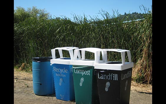 An advanced waste management/recycling system. Marin County Fair & Exposition, San Rafael.