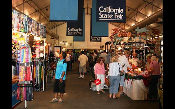 An indoor shop at the California State Fair